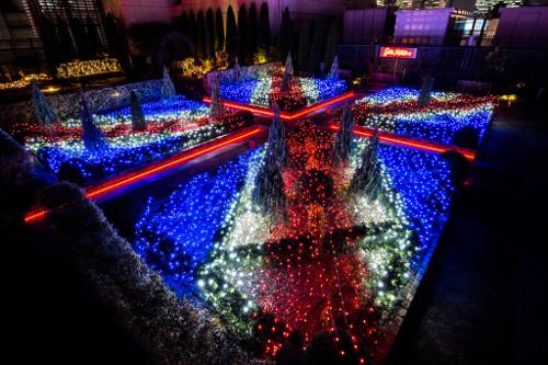 "Illumination at Shinjuku Marui Rooftop Garden ""Cath Kidston x Marui"""