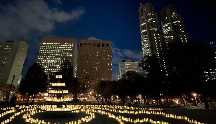 Candle Night Shinjuku Central Park