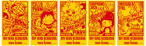"Tower Records Shibuya × 'My Hero Academia' Exhibition Event ""Heroes: Rising Space"""