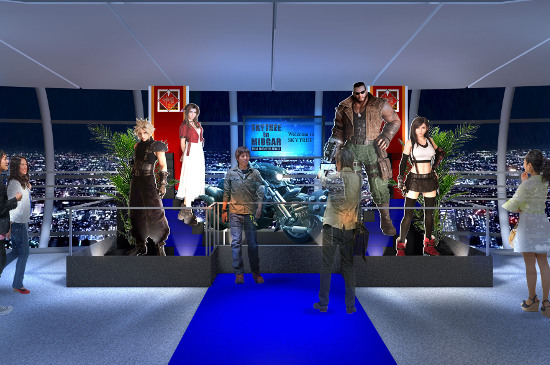 Tokyo Skytree in Midgar Final Fantasy VII Remake
